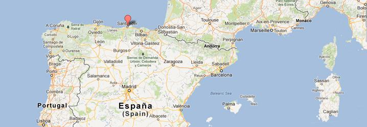 Mapa De Santander España.Grupo De Tecnologia De La Edificacion